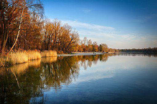 Lake, Bank, Water, Landscape, Rest, Waters, Pond, Mood