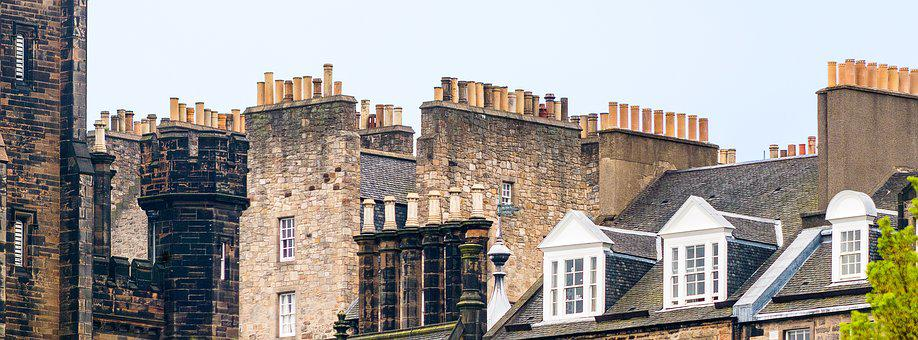 Edinburgh, Old Town, Facade, Houses, Architecture