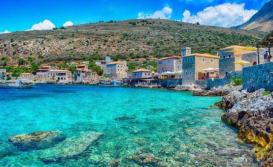 Sea, Vacations, Greece, Limeni, Lakonia, Peloponnese