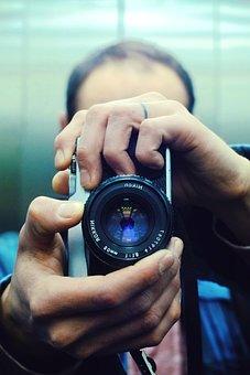 Photographer, Camera, Photography, Lens, Photograph