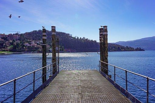 Laveno, Pier, Mombello, Porto, Lago Maggiore, Varese