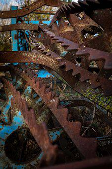 Rust, Wheels, Wheel, Old, Metal, Rusty, Broken, Decay