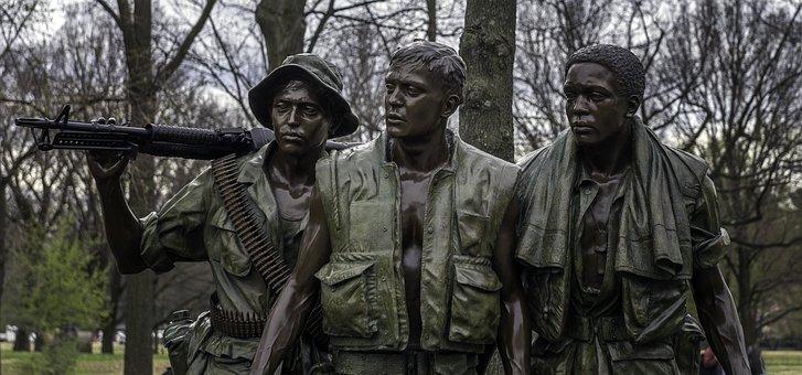 Vietnam, Memorial, Soldiers, Monument, Sculpture