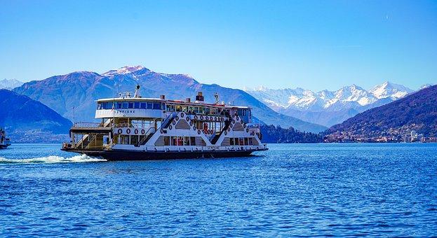 Ferry, Ship, Sempione, Boat, Laveno, Porto, Varese