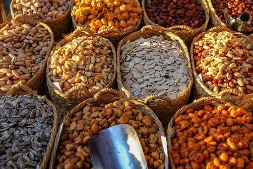 Nuts, Fruits, Peanuts, Sunflower Seeds, Pumpkin Seeds