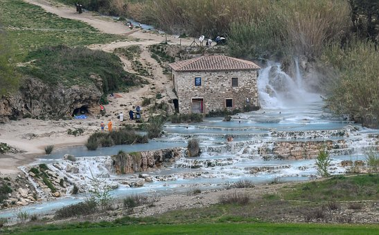 Italy, Tuscany Saturnia, Thermal, Springs, Hot, Water