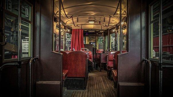 Tram, Interior, Inside, Old, Rustic, Dare, Traffic