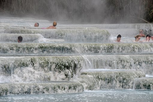 Italy, Tuscany, Saturnia, Hot, Springs, Terme, Thermal