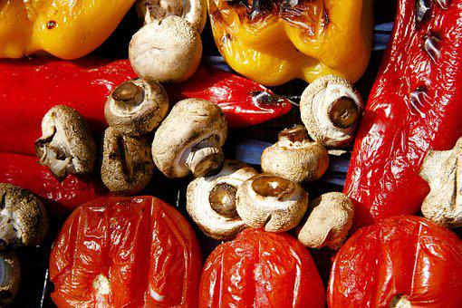 Vegetables, Mushrooms, Grill, Tomatoes, Delicious, Food