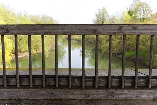 Railing, Grid, Protection, Bridge, Wooden Bridge