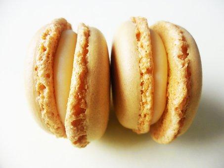 Macarons, Hazelnut, Light Brown, Sweet, Cookies