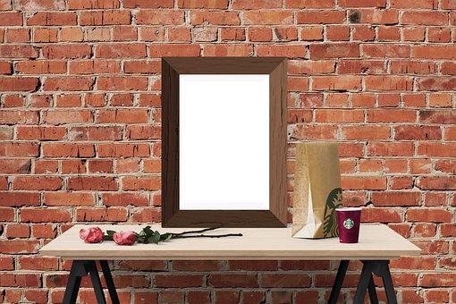 Poster, Frame, Wall, Desk, Flower, Bag, Cup