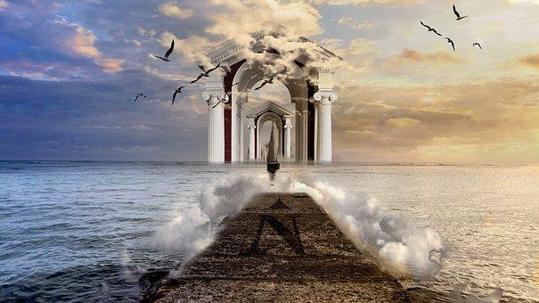 Composition, Dream, Place, Sailer, Photoshop