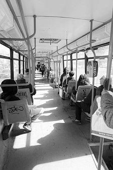 Tram, People, Place, Transport, Public, In Common, Men