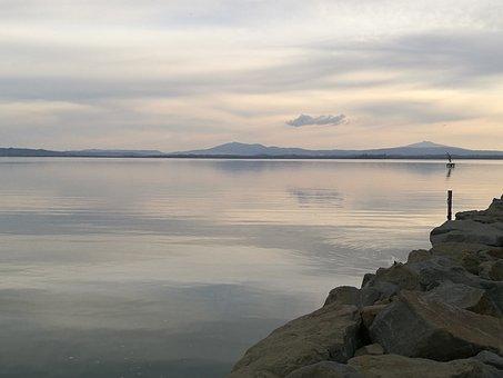 Lake, Nature, Depth, Art, Landscape, Umbria, Italy