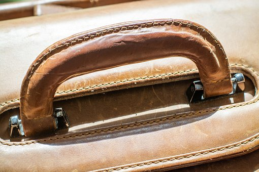 Bag, Leather, Leather Case, Handle, Briefcase, Close Up