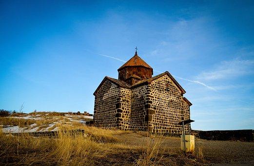 Sevan, Armenia, Medieval, Orthodox, Church, Mountains