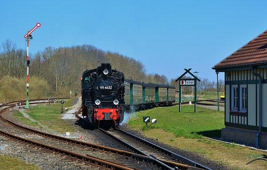 Steam Locomotive, Rasender Roland, Narrow Gauge Railway