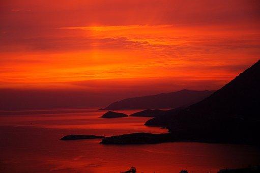 Island, Sunrise, Crete, Nature, Coast