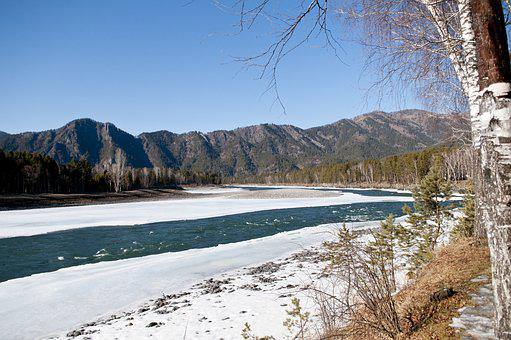 River, Mountains, Landscape, Nature, Water, Mountain