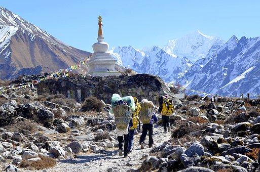 Nepal, Trek, Langtang, Trekking, Himalaya, Landscape