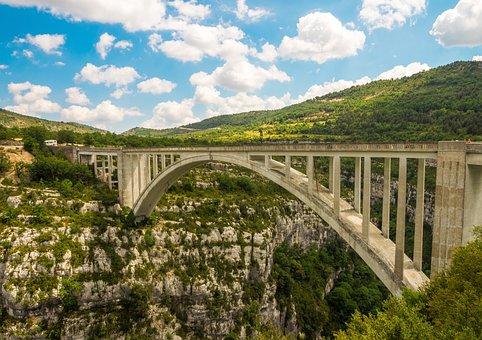 Pont De L Artuby, Bridge, Verdon Gorge, Canyon, Gorge