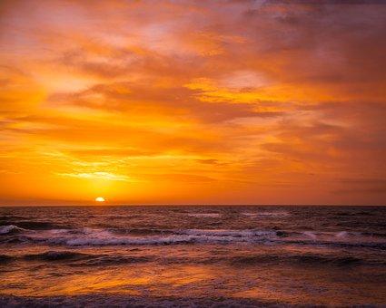 West Beach, Baltic Sea, Sunset, Sea, Nature