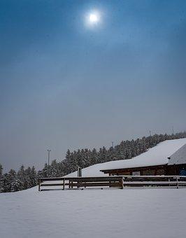 Black Forest, Winter Mood, Ski Lift, Snow, Lighting