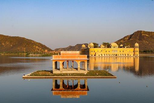 Jal Mahal, Jaipur, Sunset, Water, Mirroring, Mood