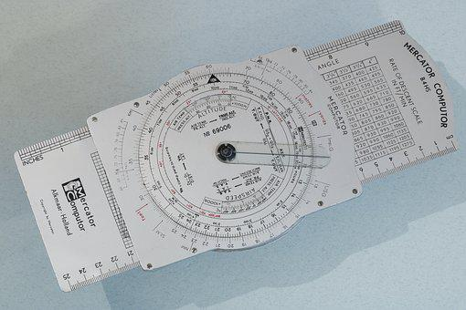 Computer, Slide, Rule, Aviation, Navigation, Track