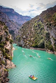 Verdon Gorge, Canyon, France, Gorge, River, Verdon