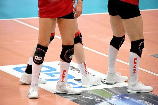 Volleyball, Knee Pads, Player, Volley, Ball Sports