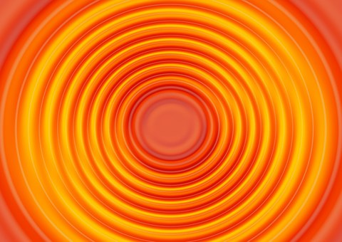Wave, Orange, Concentric, Waves Circles