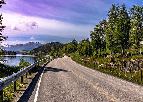 Norway, Way, Landscape, Road, Nature, Sky, Clouds