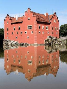 Castle, červená Lhota, Architecture, History, Lake
