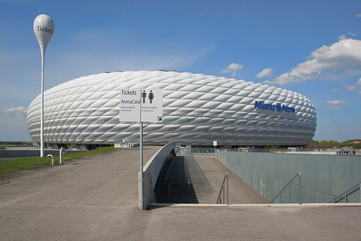 Football, Stadium, Arena, Allianz Arena, Modern