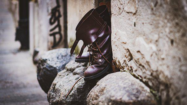 Shoes, Leather, Shoe, Isolated, Boots, Fashion, Black