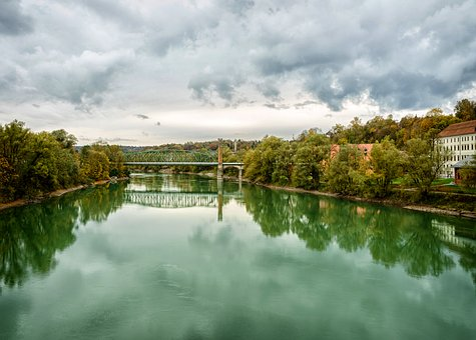 Passau, Inn, River, Water, Confluence, Cruise, Bridges