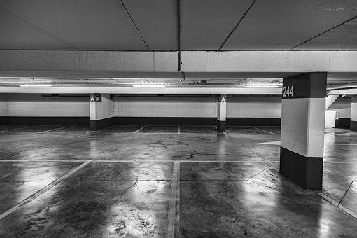 Garage, Parking, Car Park, Building, Dark, Underground