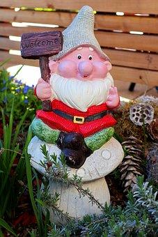 Garden Gnome, Garden, Welcome, Dwarf, Funny, Imp