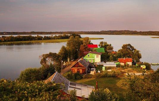 Lake, Sebezh, Nature, Landscape, Beach, Evening