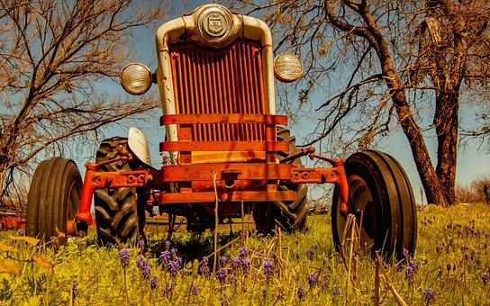Tractor, Antique, Agriculture, Farm, Vehicle, Vintage