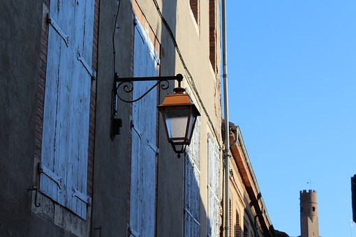 Everything Is Blue, Blue, Sky, City, Travel, Lamp, Albi
