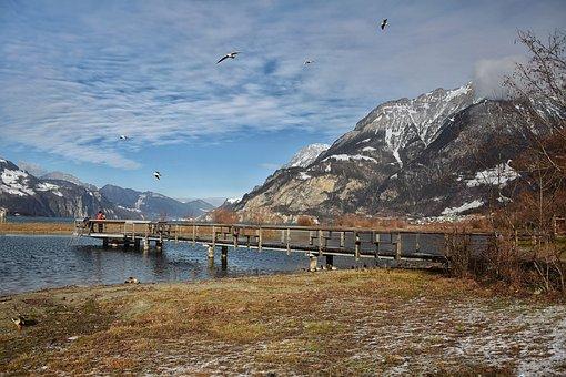 Water, Lake, Sky, Web, More, Hiking, Dusk, Stones
