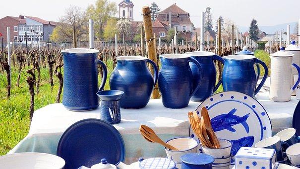 Porcelain, Ceramic, Tableware, Vineyard, Pottery