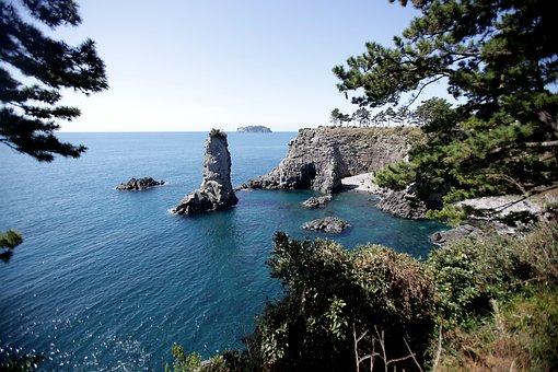 Jeju Island, Exterior With, Sea, Rock