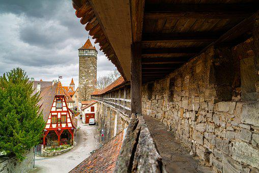 Middle Ages, Historic Center, Historically, Rothenburg