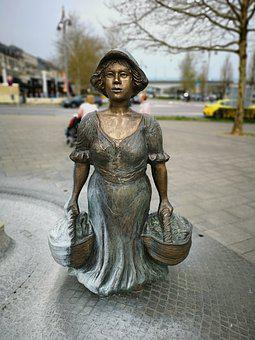 Statue, Woman, Sculpture, Mood, Artwork, Bronze, Face