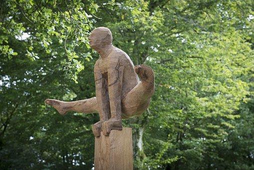 Sculpture, Wood, Art, Religion, Wood Carving, Figure