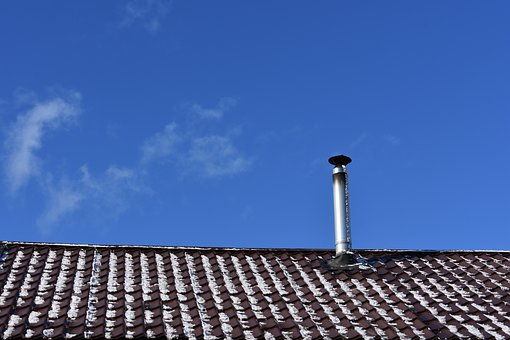 Roof, Snow, Sky, Spring, Clouds, Fireplace